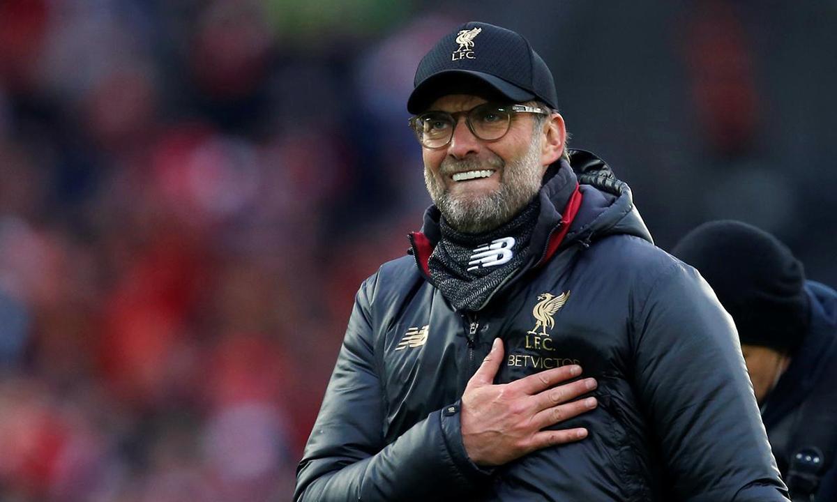 Klopp có chức vô địch quốc gia đầu tiên cùng Liverpool. Ảnh: Reuters.