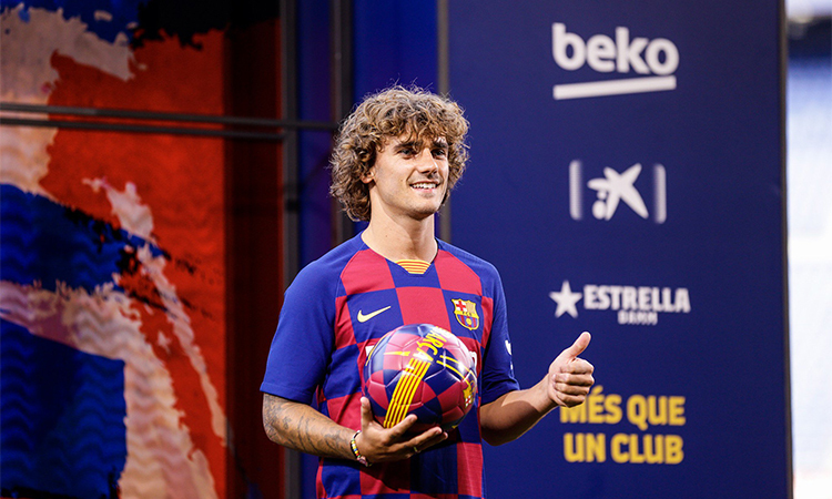 Griezmann gia nhập Barca với kỳ vọng lớn hè năm ngoái. Ảnh: FCB.