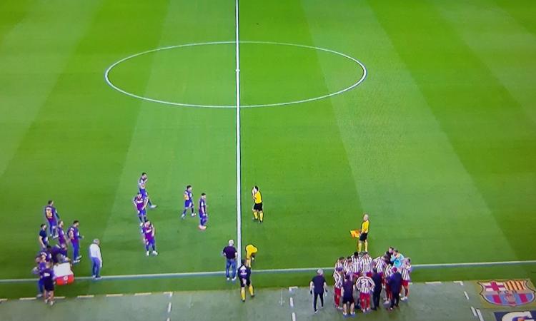 Khác biệt giữa Barca với Atletico trong thời gian cooling-break.