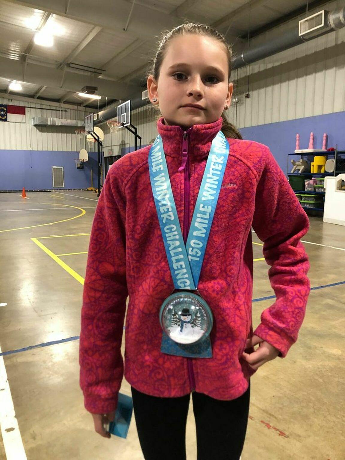 Hailey Walker giữ kỷ lục của cuộc đua Marathon Kids 2019-2020.
