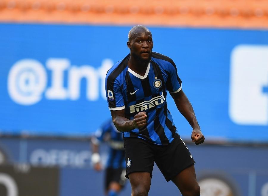 Lukaku mừng bàn thắng thứ 20 trong mùa giải. Ảnh: Inter.it.