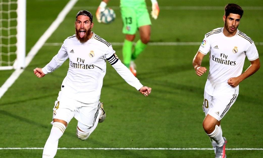 Ramos (trái) đã ghi năm bàn kể từ sau Covid-19. Ảnh: Reuters.