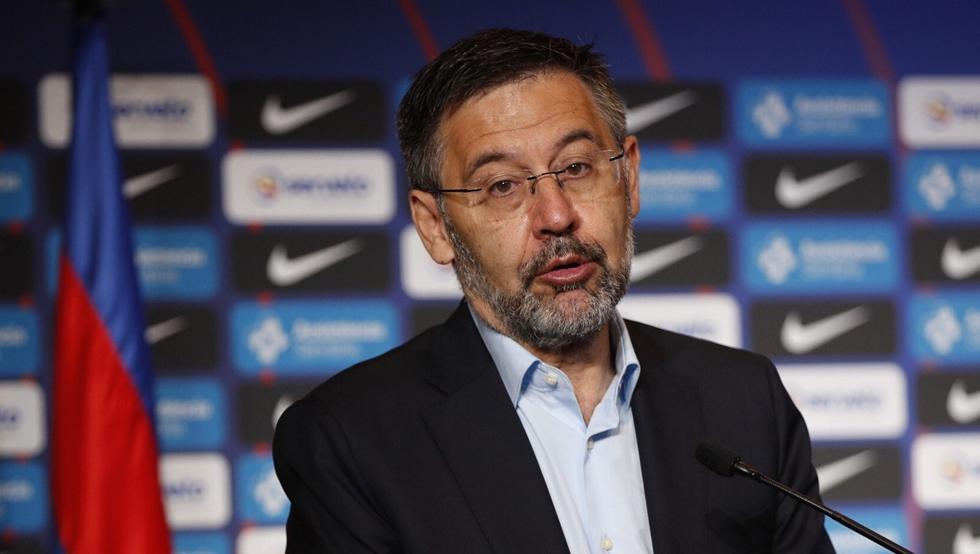 Chủ tịch Bartomeu hết nhiệm kỳ vào năm 2021, cùng lúc hợp đồng hiện tại của Messi đáo hạn. Ảnh: EFE.