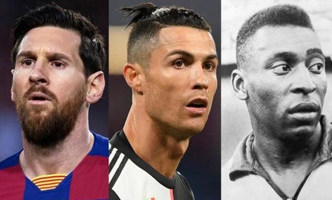 Messi, Ronaldo đều sở hữu hàng trăm bàn như Pele. Ảnh: AP, Reuters.