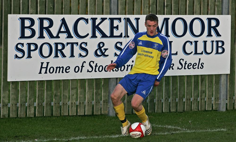 Vardy thời còn chơi cho đội bán chuyên Stocksbridge Park Steels năm 2010.