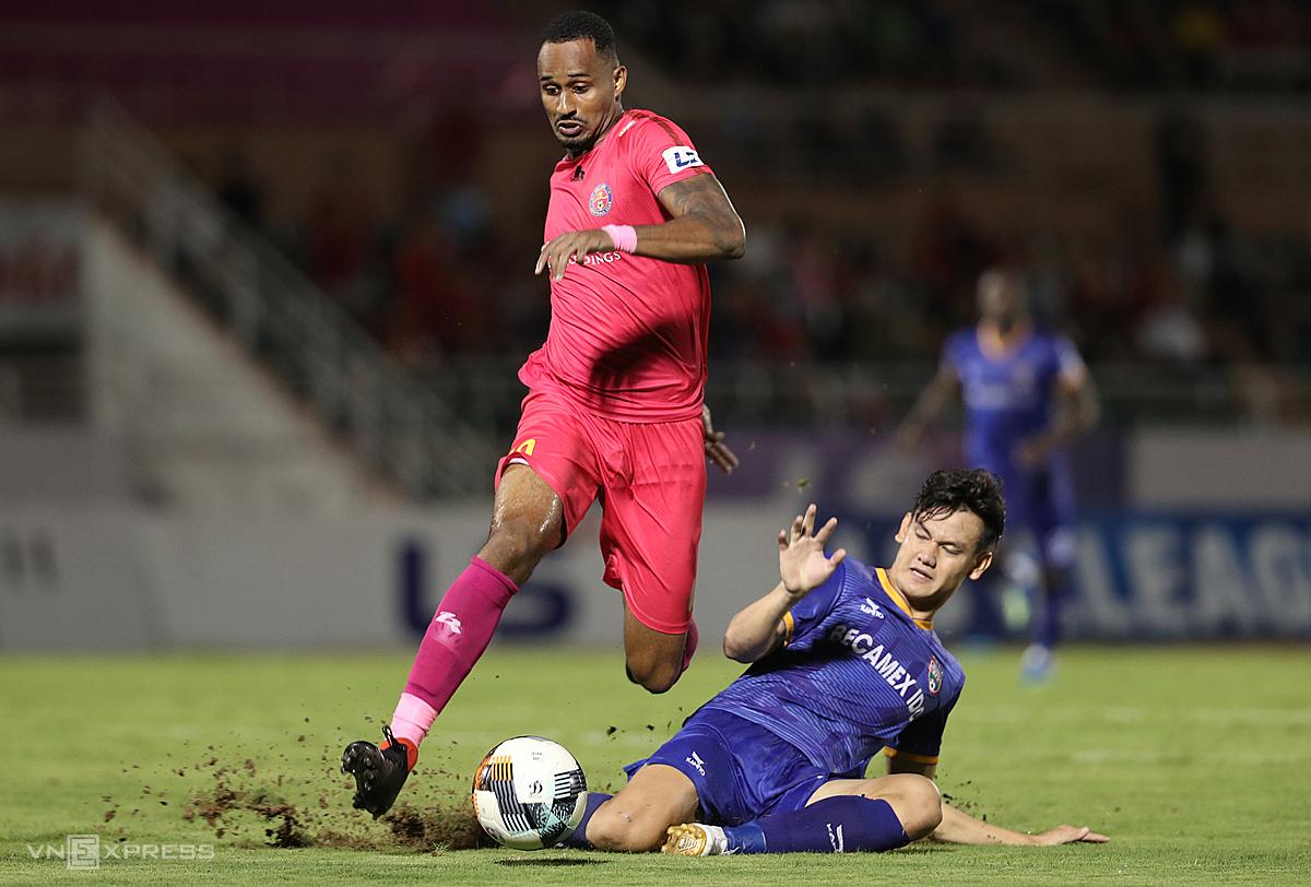Paulo Pedro, ngoại binh xuất sắc của Sài Gòn FC được HLV Nguyễn Thành Công chiêu mộ. Ảnh: Đức Đồng.