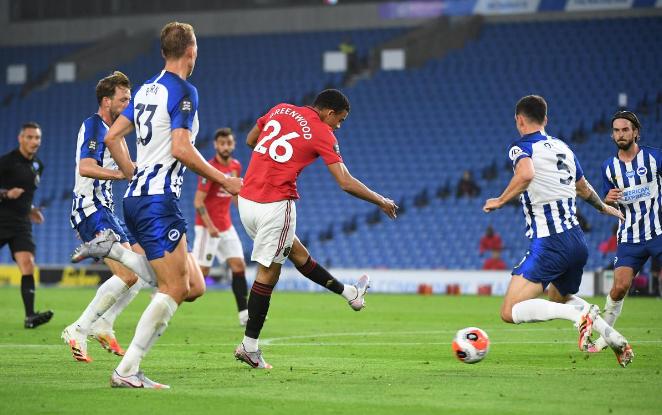 Greenwood đang thăng hoa với bốn bàn trong ba trận gần nhất cho Man Utd. Ảnh: Reuters.