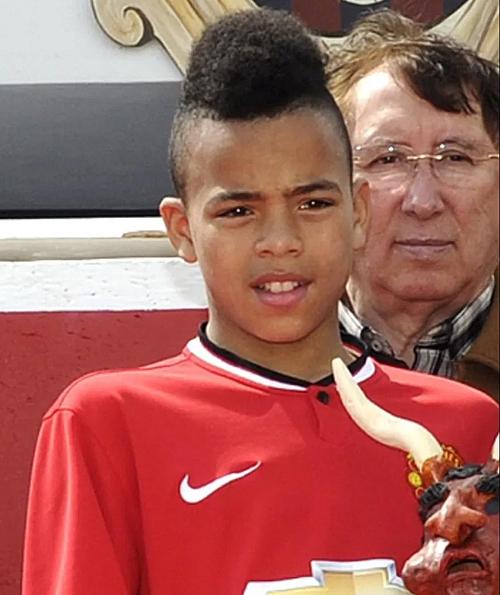 Greenwood thời còn chơi cho đội nhi đồng Man Utd. Ảnh: Instagram/MG.