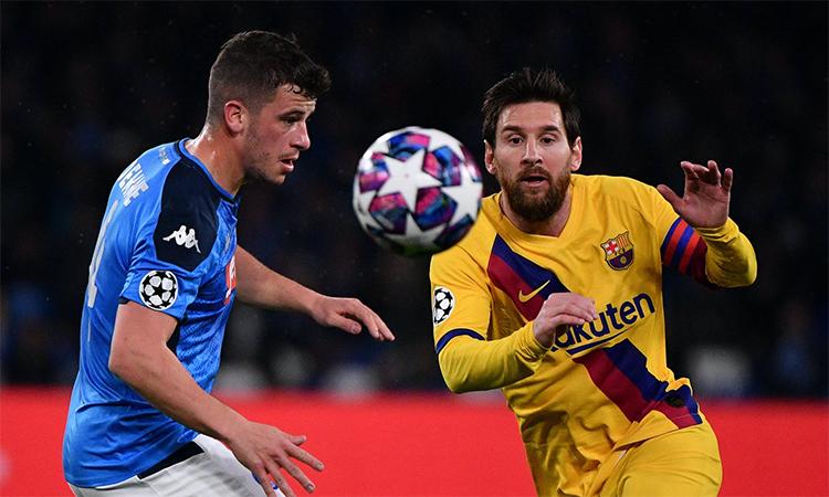 Demme trong lần chạm trán Messi hồi tháng Ba.