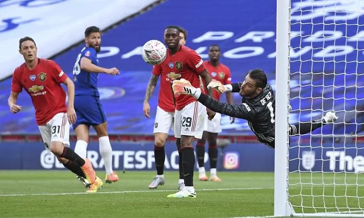 Man Utd thất bại khi Solskjaer xoay tua đội hình. Ảnh: AP.