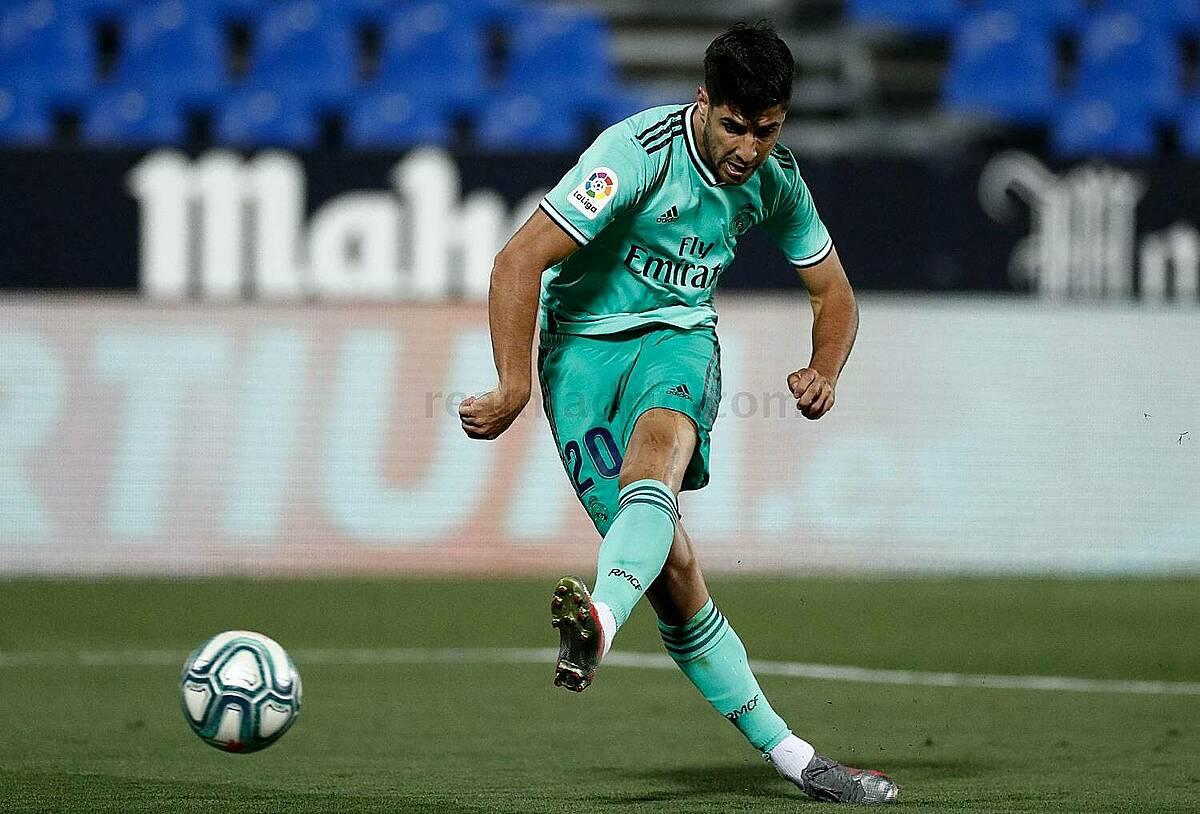 Asensio ghi bàn nâng tỷ số lên 2-1. Ảnh: RMFC.