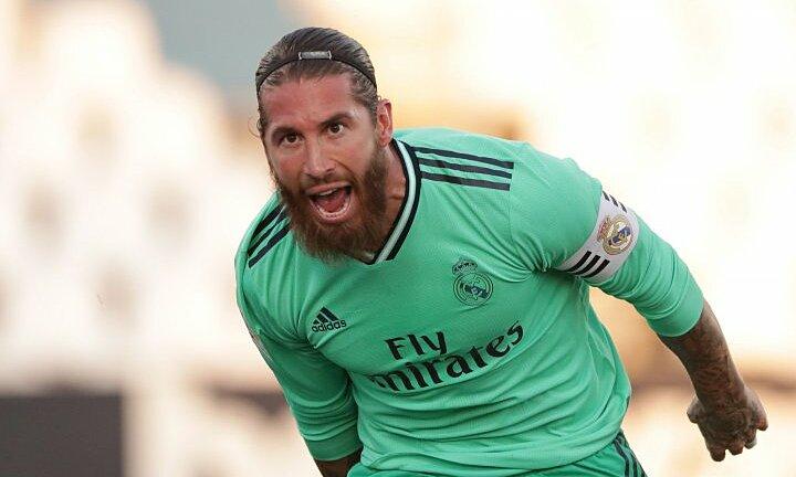 Ramos ghi bàn nhưng Real vẫn thua đội xuống hạng. Ảnh: AS.
