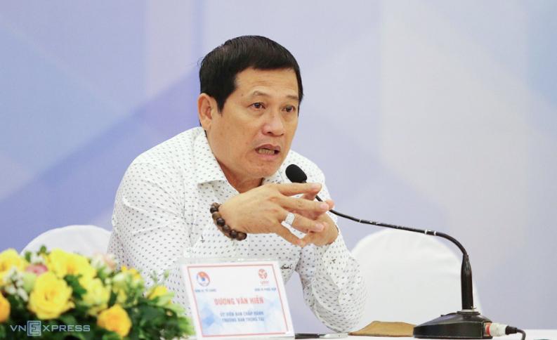 Ông Dương Văn Hiền nhận chức Trưởng Ban trọng tài VFF từ năm 2018. Ảnh: Lâm Thoả.
