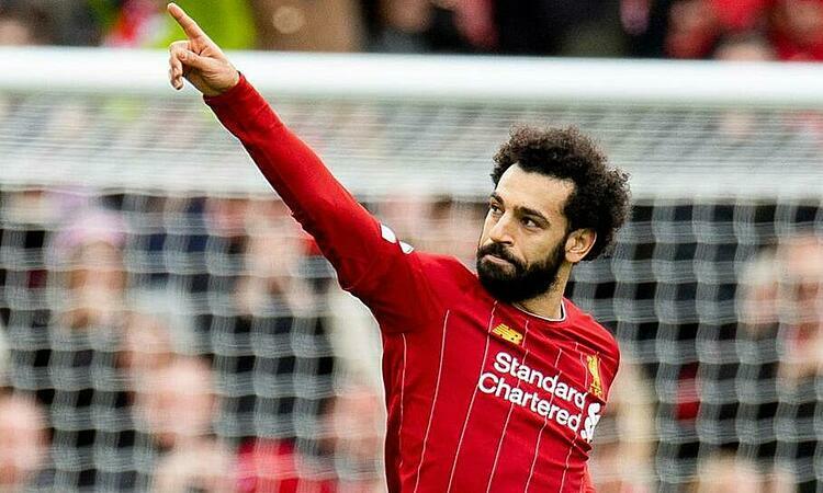 Salah tỏa sáng giúp Liverpool lập kỷ lục. Ảnh: EPA.