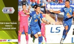Top 5 bàn thắng vòng 11 V-League 2020