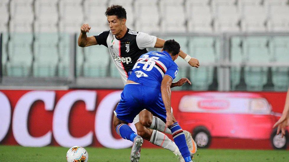 Ronaldo tỏa sáng giúp Juventus ghi bàn dẫn quan trọng. Ảnh: ANSA.