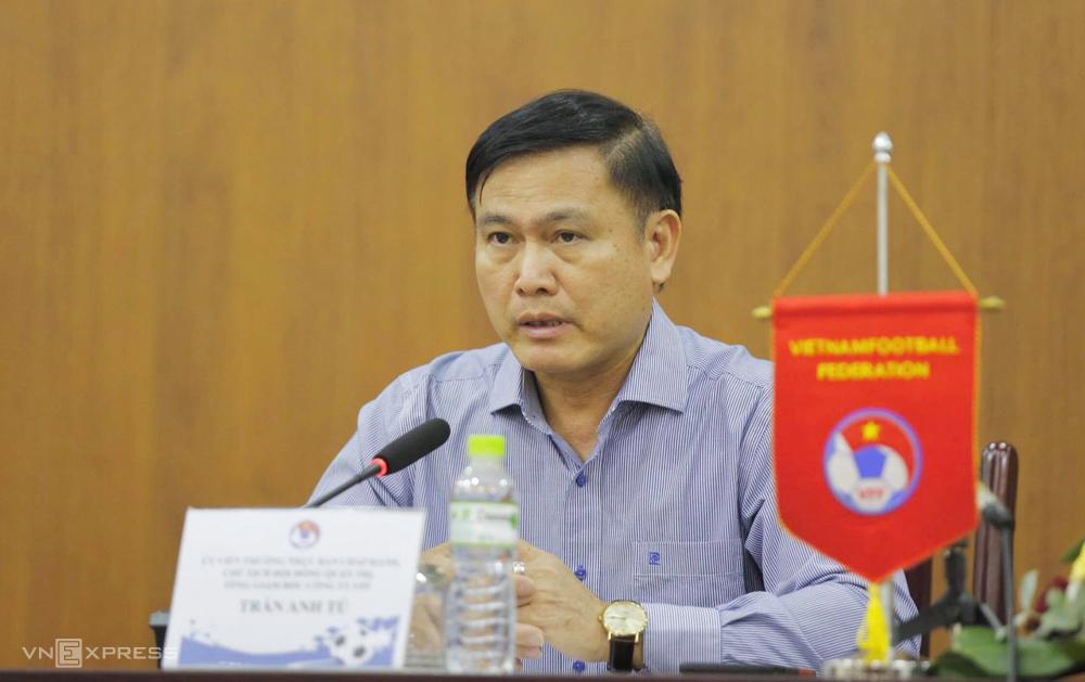 Ông Trần Anh Tú phản đối đề xuất kết thúc V-League 2020 sớm của bốn đội đang đứng cuối bảng điểm.