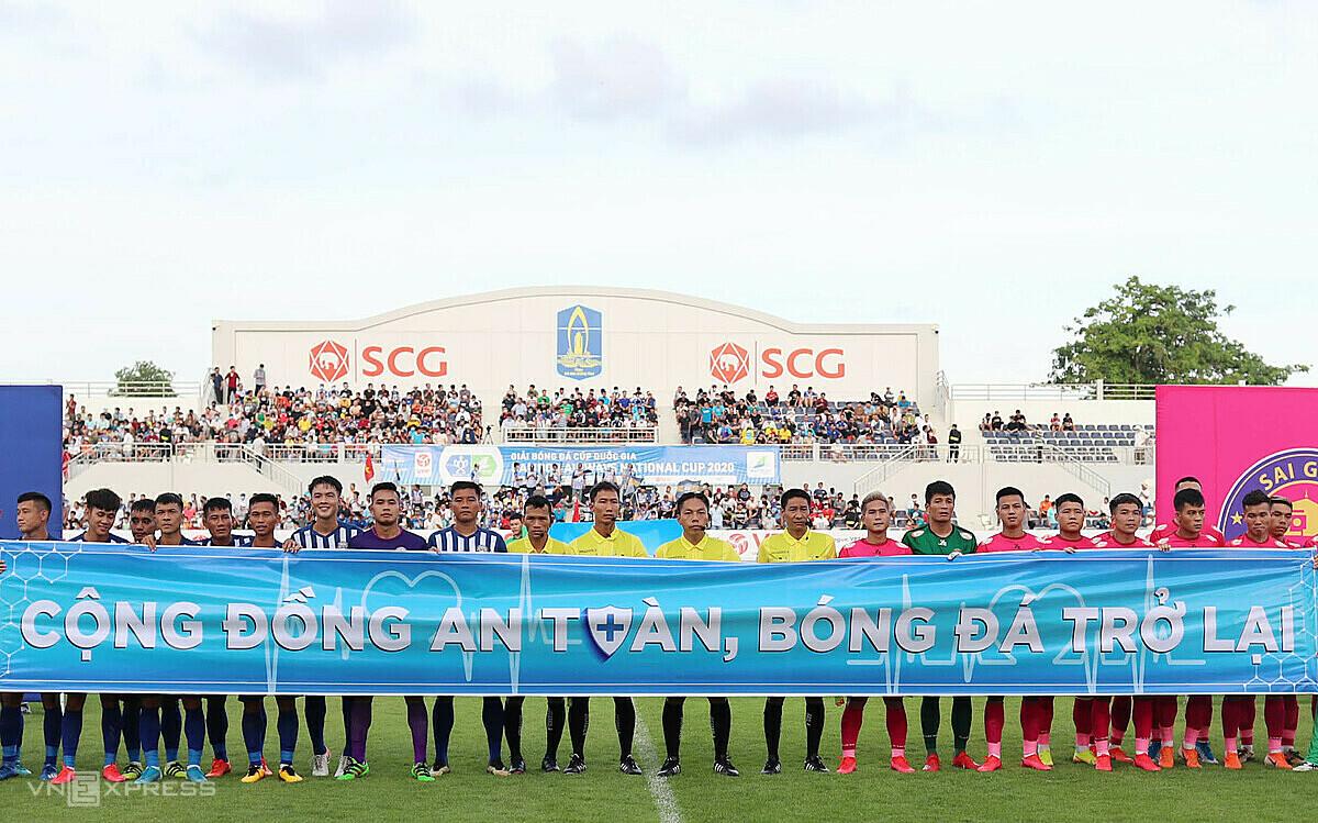Cup Quốc gia 2020 chưa thể tiếp diễn khi covid-19 diễn biến phức tạp ở Việt Nam. Ảnh: Đức Đồng.