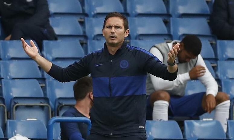 Lampard hướng tới danh hiệu đầu tiên cùng Chelsea. Ảnh: Reuters.
