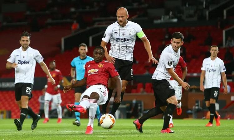 Không quá lấn lướt nhưng Man Utd vẫn thắng nhờ sức mạnh vượt trội so với LASK. Ảnh: BPI.