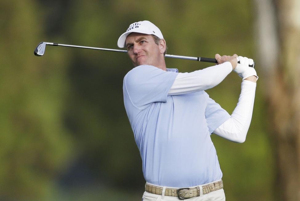 Todd tấn công cờ ở hố 9 thuộc vòng mở màn PGA Championship 2020 trên sân sân TPC Harding Park hôm qua.