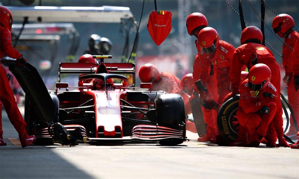 Leclerc vào pitt chỉ một lần, nhưng vẫn giữ lốp xuất sắc để cán đích thứ tư. Ảnh: F1.