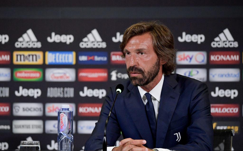 Pirlo trong cuộc họp báo ra măt trên cương vị HLV đội U23 Juventus hôm 31/7. Ảnh: JFC.