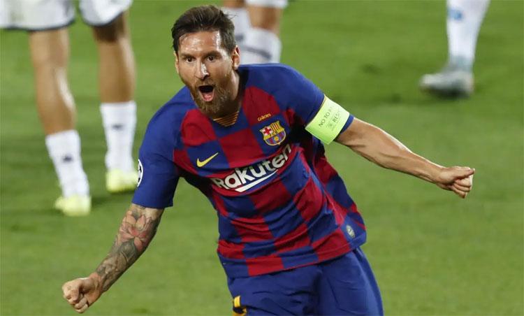 Messi ghi bàn vào lưới nhiều đối thủ nhất tại Champions League. Ảnh: AP.