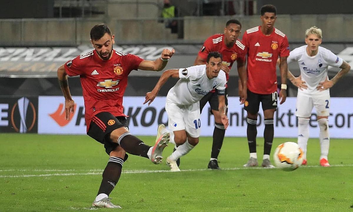 Bruno Fernandes ghi bàn duy nhất trận đấu. Ảnh: Reuters.
