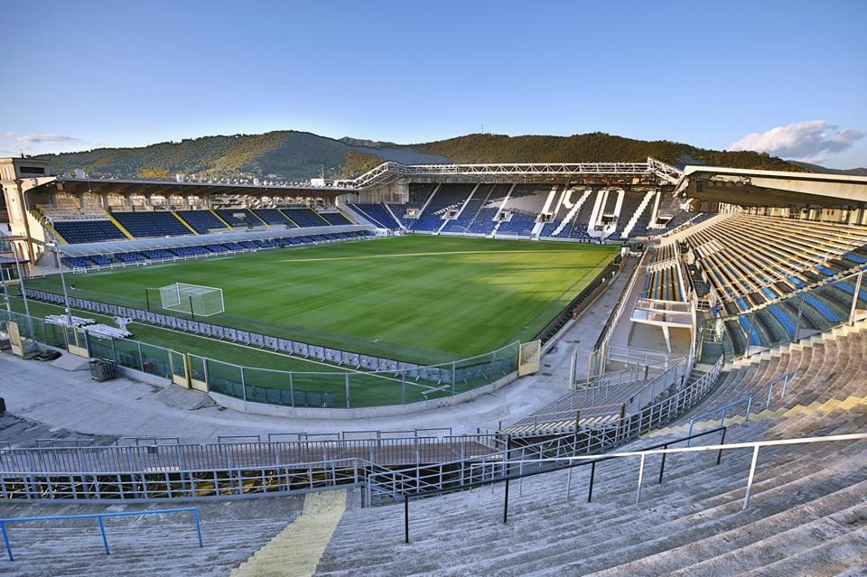Sân Gewiss là một trong nhiều di sản của Percassi ở Atalanta.