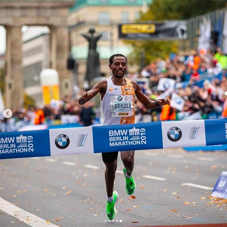 Bekele tại Berlin Marathon 2019. Ảnh: Instagram
