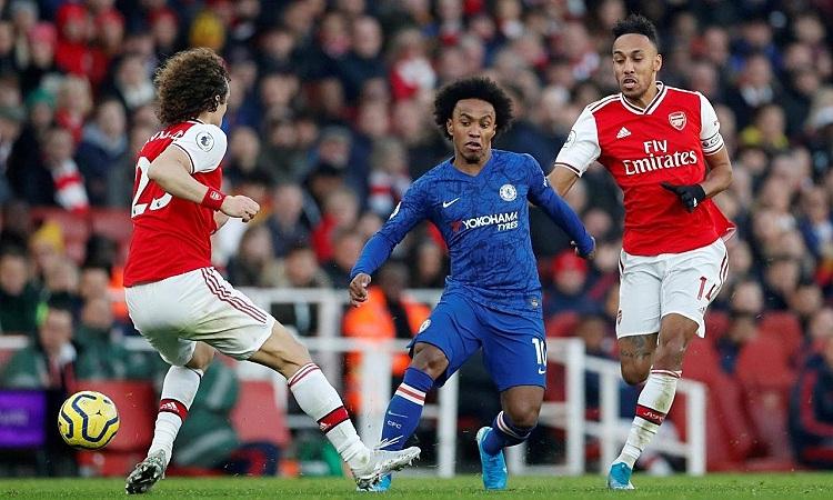 Willian có thể thi đấu ở hai cánh cũng như đá tiền vệ tấn công ở Arsenal. Ảnh: Reuters.
