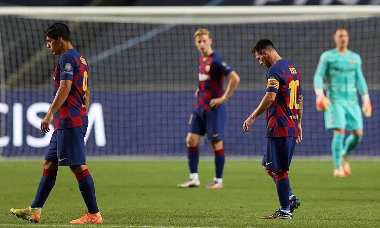Barca nhận thất bại đậm nhất sau 69 năm. Ảnh: Reuters.