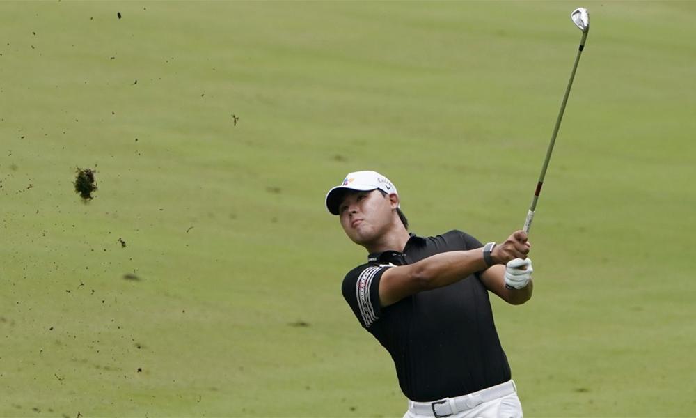 Kim Si-woo đứng trước cơ hội lớn để lần thứ hai vô địch Wyndham Championship. Ảnh: Yonhap.