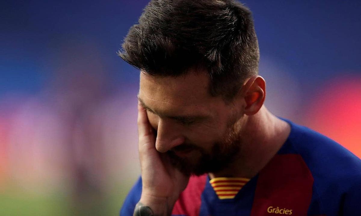 Messi không ghi bàn trên sân khách ở vòng knock-out Champions League kể từ năm 2013. Ảnh: Reuters.