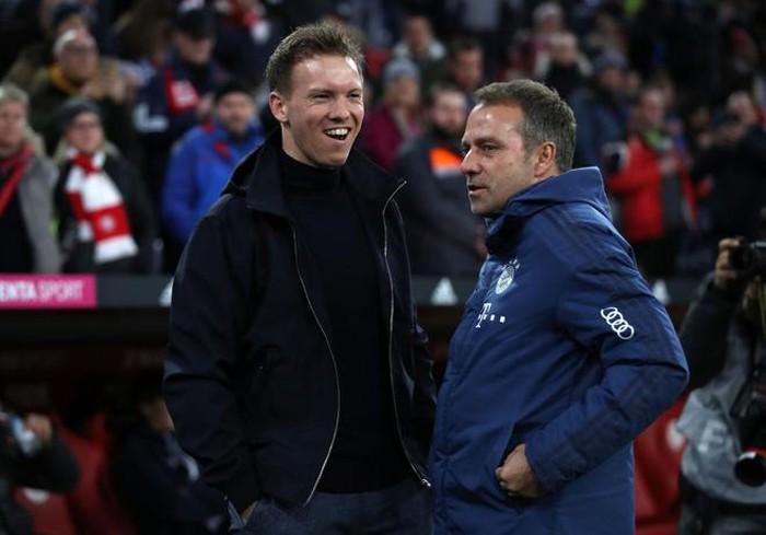 Julian Nagelsmann (trái) và Hansi Flick có thể tạo ra một trận chung kết toàn Đức ở Champions League mùa này.