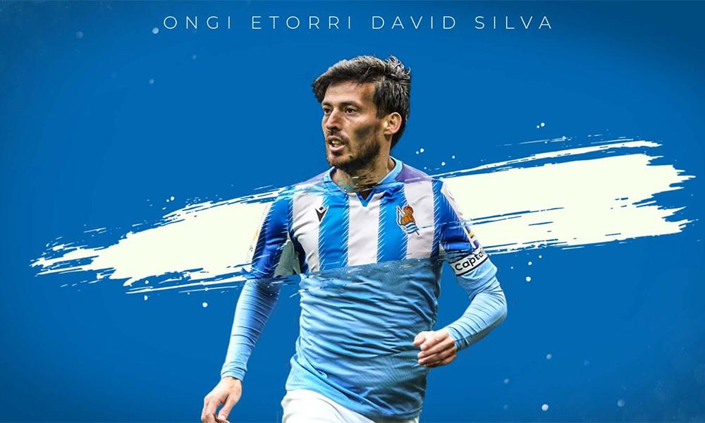 Bức ảnh được Sociedad đăng tải để thông báo về việc ký hợp đồng với David Silva. Ảnh: Real Sociedad.