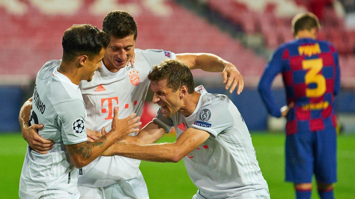 Bayern của HLV Hansi Flick gây ấn tượng mạnh khi hạ Barca 8-2. Ảnh: imago.