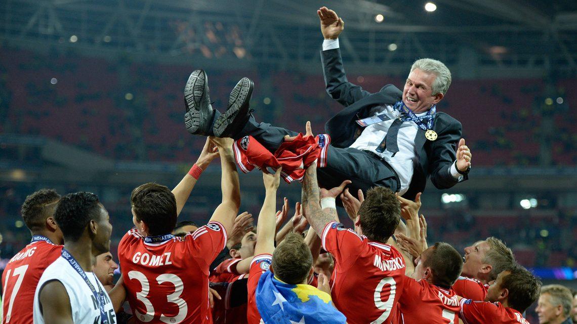 HLV Jupp Heynckes, đại diện tiêu biểu của lò Hennes-Weisweiler, từng giúp Bayern đoạt cú ăn ba mùa 2012-2013. Ảnh: imago.