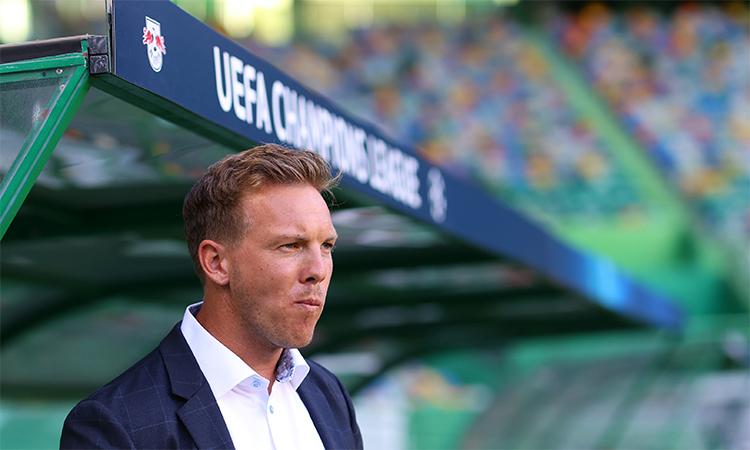 HLV 33 tuổi Nagelsmann đang thu hút sự chú ý bằng việc đưa Leipzig vào bán kết. Ảnh: Reuters.