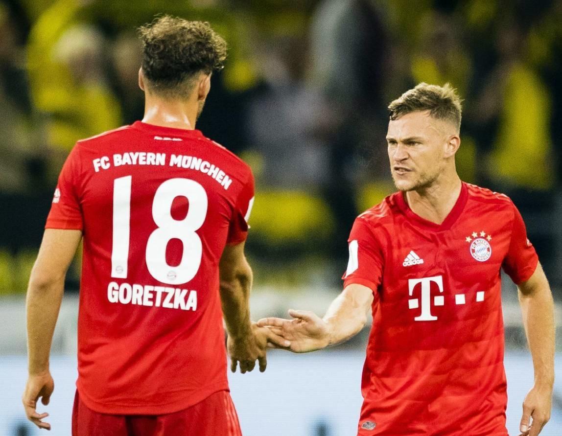 Goretzka (trái) và Kimmich có thể chơi được nhiều vị trí từ hàng tiền vệ trở xuống. Ảnh: Bundesliga.