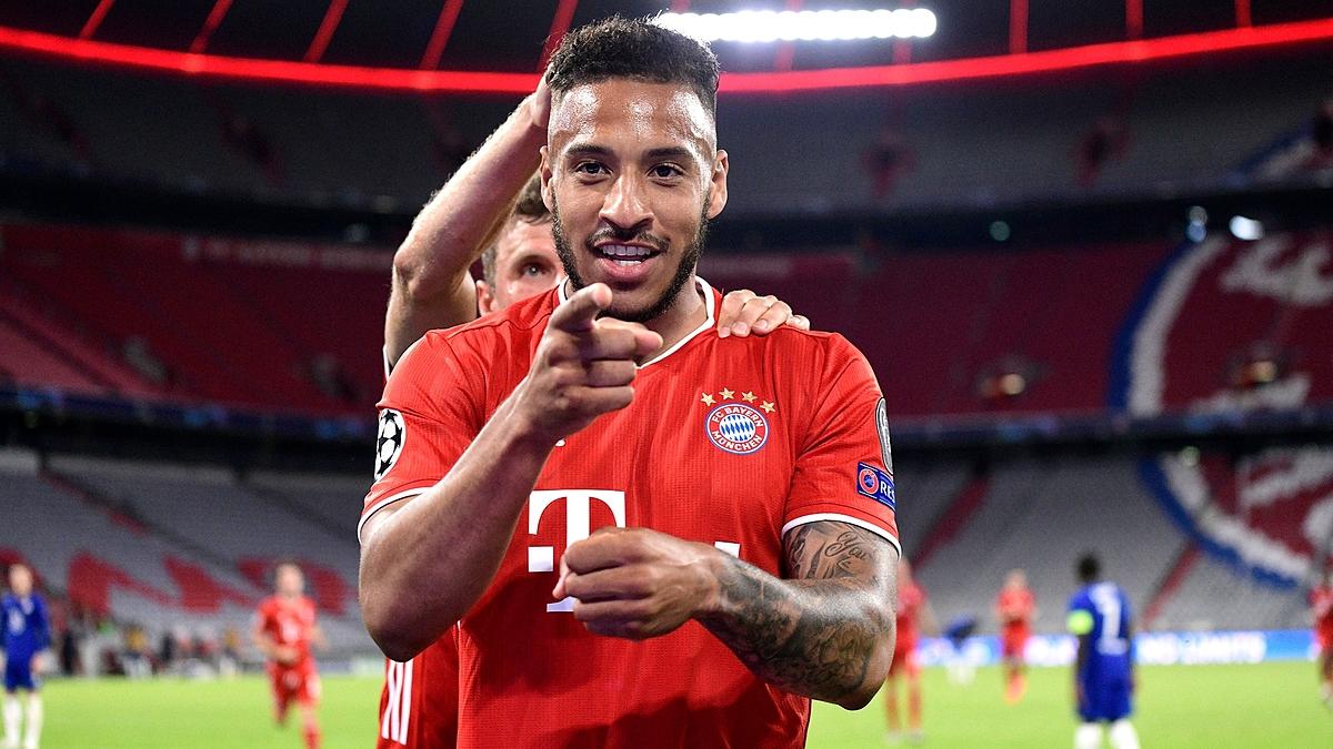 Tolisso mừng bàn thắng nâng tỷ số lên 3-1 trong trận thắng Chelsea ở lượt về vòng 1/8 Champions League mùa này trên sân nhà Allianz Arena. Ảnh: BMFC.