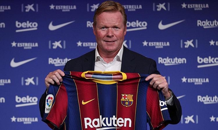 Nhiệm vụ đầu tiên của Koeman là giữ chân Messi. Ảnh: Reuters.