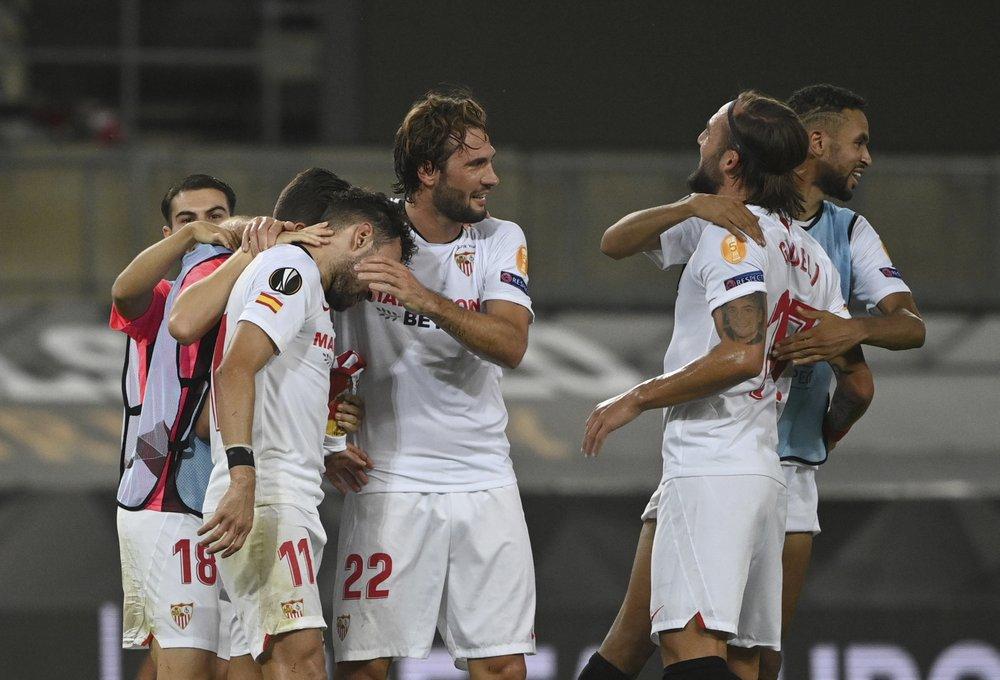 Sevilla vừa hạ Man Utd ở bán kết. Ảnh: AP.