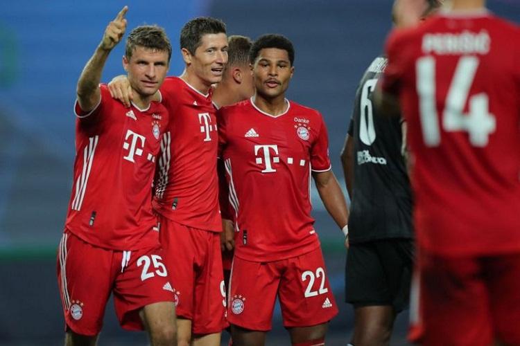 Bayern chỉ bỏ ra 119 triệu USD để xây dựng đội hình xuất phát ở trận bán kết gặp Lyon. Ảnh: Reuters.