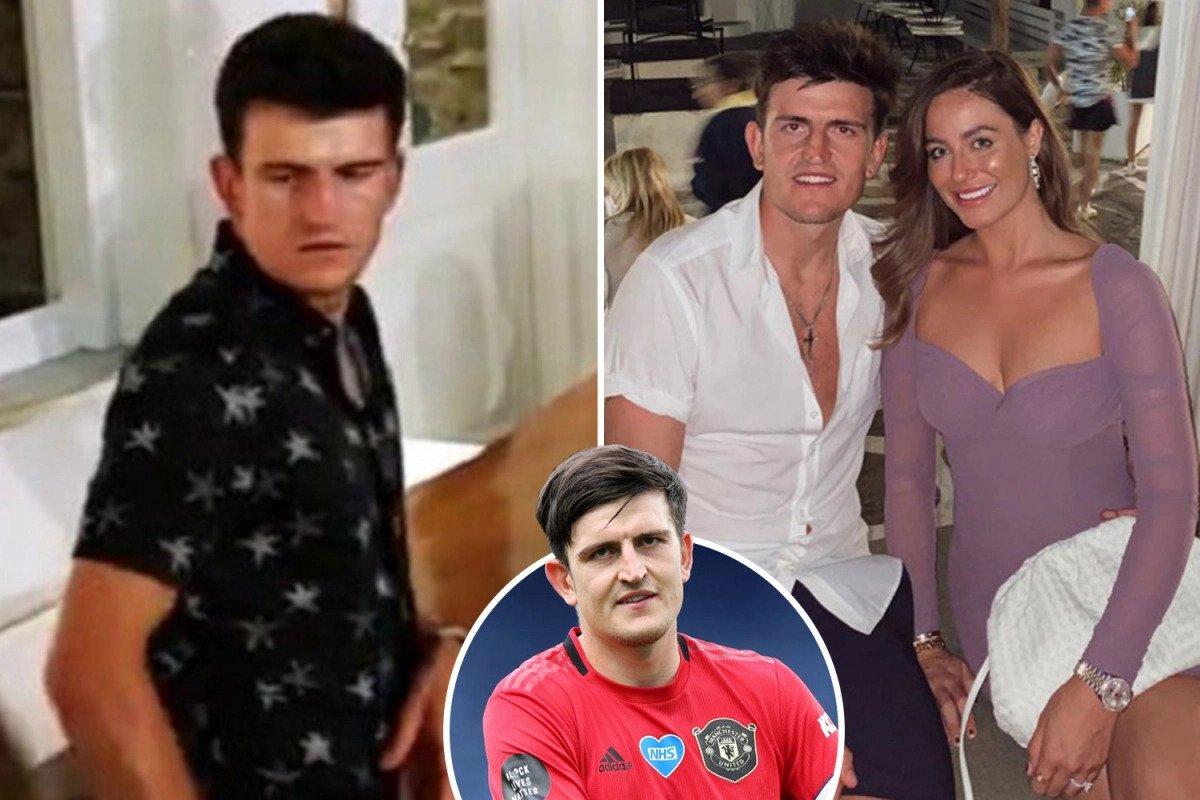 Maguire và bạn gái, cùng vài cầu thủ Man Utd, du lịch ở đảo Mykonos, Hy Lạp, sau khi Man Utd bị loại ở bán kết Europa League. Ảnh: Sun Sport.