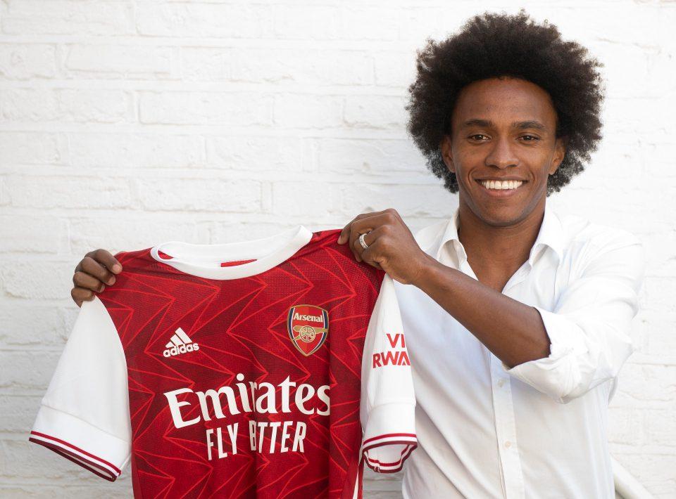 Willian, 32 tuổi, giành hai chức vô địch Ngoại hạng Anh và một Cup FA cùng Chelsea. Ảnh: Arsenal FC.