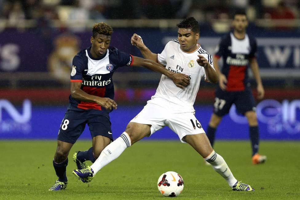 Kingsley Coman (trái) trong trận đấu với Real Madrid mùa 2013-2014 tại Champions League. Ảnh: Reuters.