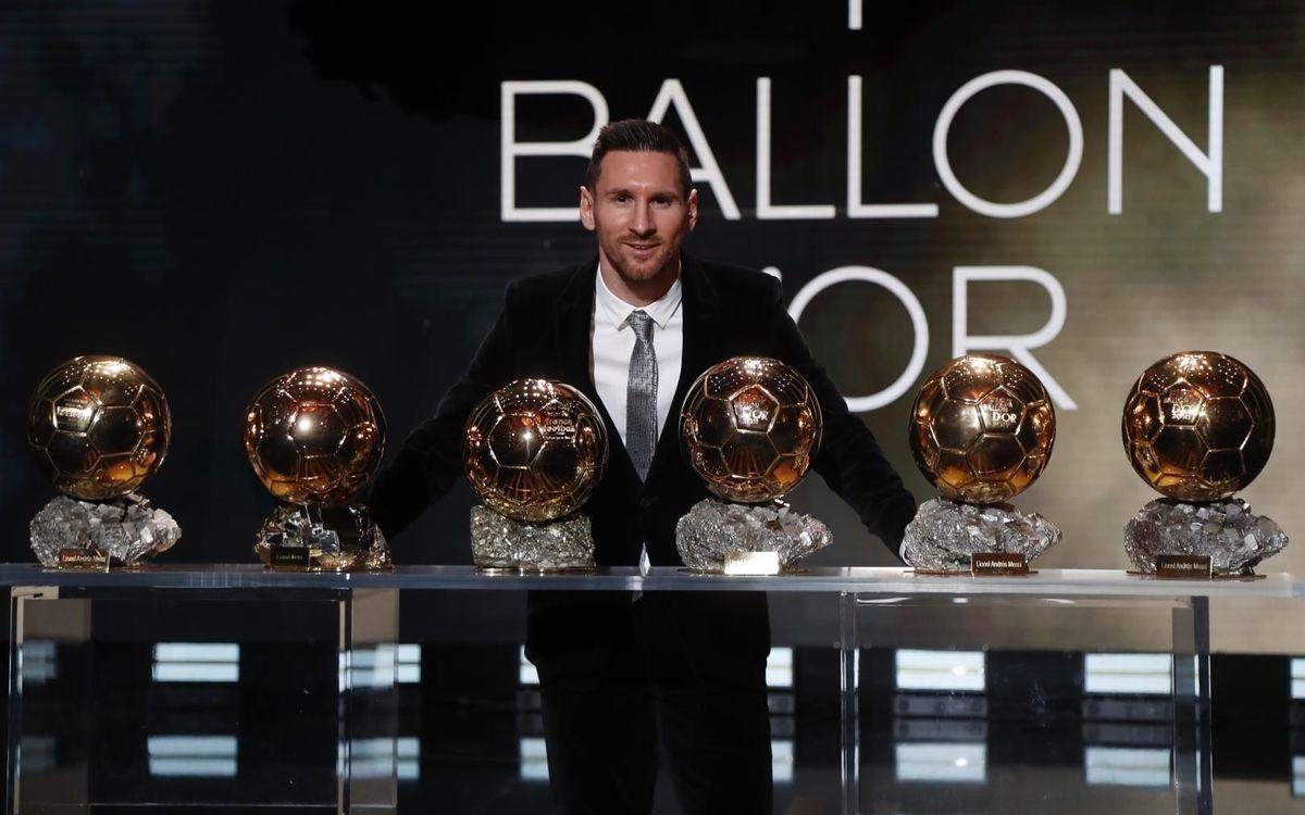Messi đang giữ kỷ lục đoạt sáu Quả Bóng Vàng. Ảnh: FC Barcelona.