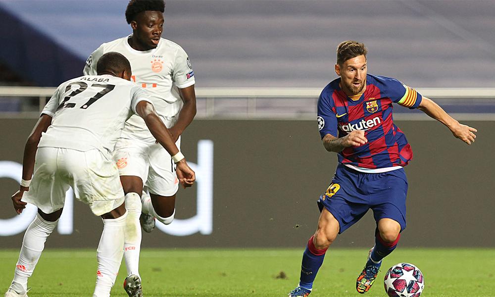 Trận thua Bayern 2-8 hôm 14/8 có thể là trận đấu cuối cùng của Messi trong màu áo Barca. Ảnh: Reuters